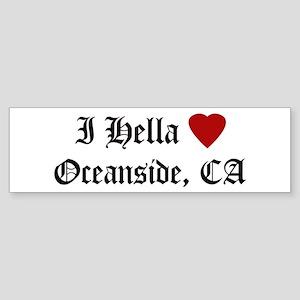 Hella Love Oceanside Bumper Sticker