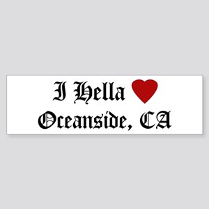 Hella Love Oceanside Bumper Sticker