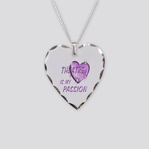 Theatre Passion Necklace Heart Charm