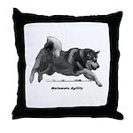 Malamute Agility Throw Pillow