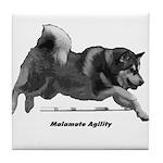 Malamute Agility Tile Coaster