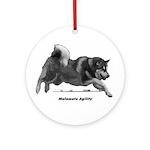 Malamute Agility Ornament (Round)