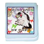 Cat Virgo baby blanket