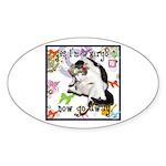 Cat Virgo Sticker (Oval 10 pk)