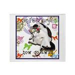 Cat Virgo Throw Blanket
