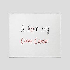 I Love My Cane Corso Throw Blanket