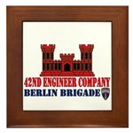 42nd Engineer Company Framed Tile