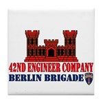 42nd Engineer Company Tile Coaster
