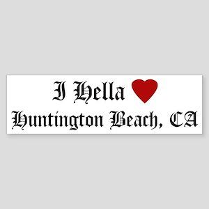 Hella Love Huntington Beach Bumper Sticker