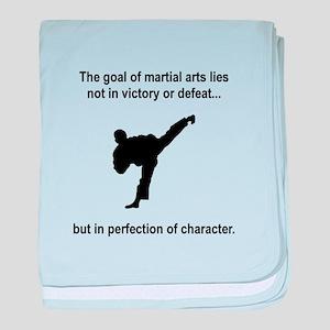 Martial Art Character baby blanket