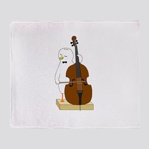 Double Bass Player Throw Blanket
