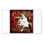 Cat Taurus Sticker (Rectangle 50 pk)