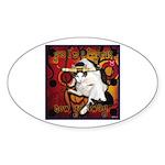 Cat Taurus Sticker (Oval 50 pk)