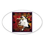 Cat Taurus Sticker (Oval 10 pk)