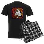 Cat Taurus Men's Dark Pajamas