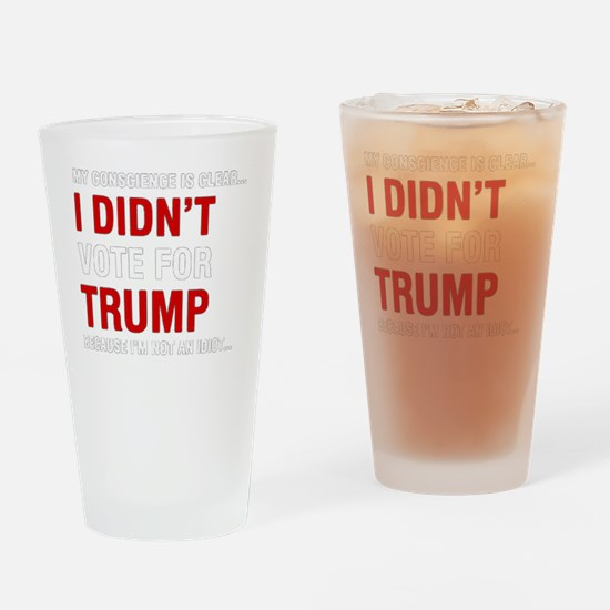 Funny Vote Drinking Glass