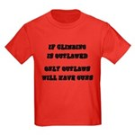 If Climbing Is Outlawed Kids Dark T-Shirt