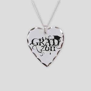 Fancy Grad 2011 Necklace Heart Charm