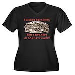 Not Born Here Women's Plus Size V-Neck Dark T-Shir