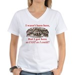 Not Born Here Women's V-Neck T-Shirt