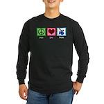 Peace Love Drums Long Sleeve Dark T-Shirt