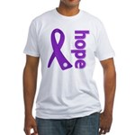 Hope Ribbon Alzheimers Fitted T-Shirt