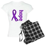Hope Ribbon Alzheimers Women's Light Pajamas