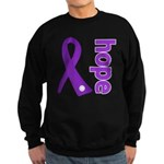 Hope Ribbon Alzheimers Sweatshirt (dark)