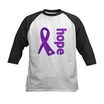 Hope Ribbon Alzheimers Kids Baseball Jersey