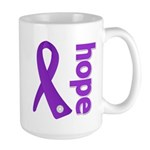 Hope Ribbon Alzheimers Large Mug