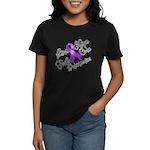Hope Cure Alzheimers Women's Dark T-Shirt