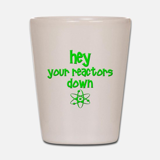 funny nuclear reactor Shot Glass