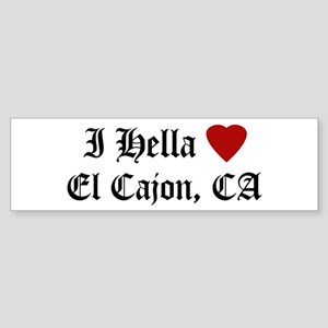 Hella Love El Cajon Bumper Sticker