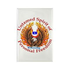 Untamed WY Spirit Rectangle Magnet (10 pack)