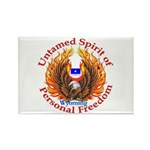 Untamed WY Spirit Rectangle Magnet (100 pack)
