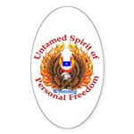 Untamed WY Spirit Sticker (Oval)