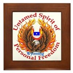 Untamed WY Spirit Framed Tile