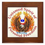 Untamed WY Spirit Framed Tile