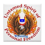 Untamed WY Spirit Tile Coaster