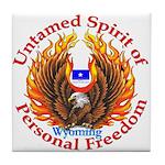 Untamed WY Spirit Tile Coaster