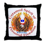 Untamed WY Spirit Throw Pillow
