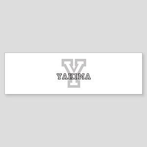 Letter Y: Yakima Bumper Sticker