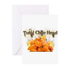 Habanero- Chile Head Greeting Cards (Pk of 10)