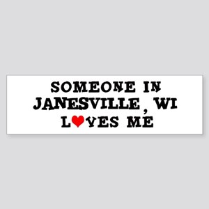 Someone in Janesville Bumper Sticker