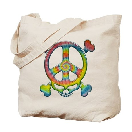 Tie-Dye Peace Pirate Tote Bag