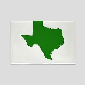 Green Texas Rectangle Magnet