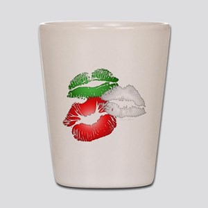Italian Kissing Lips Shot Glass