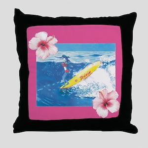 Longboard Trixie Throw Pillow