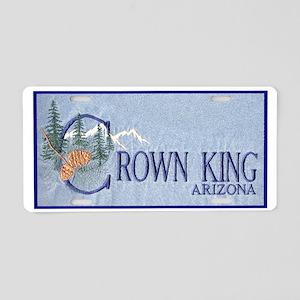 Crown King Aluminum License Plate