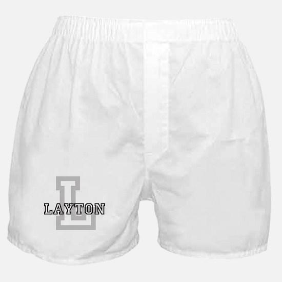 Letter L: Layton Boxer Shorts